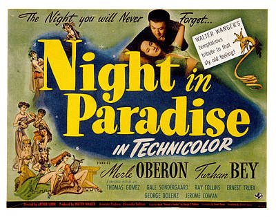 Posth Photograph - A Night In Paradise, Merle Oberon by Everett