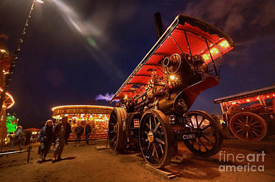 A Night Of Steam  Art Print by Rob Hawkins