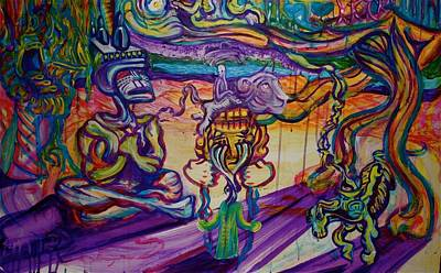Colorfull Painting - A Night With The Funk by Ben Christianson