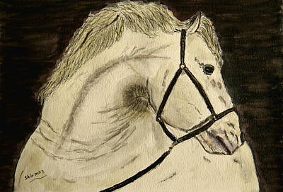 A Noble Horse. Art Print by Shlomo Zangilevitch