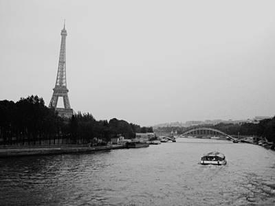A Noir Look At The Eiffel Tower Art Print by Chris Ann Wiggins