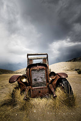 Bannack State Park Photograph - A Old Time Car by Henny Gorin