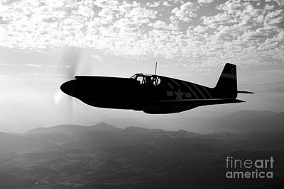 Photograph - A P-51a Mustang In Flight by Scott Germain