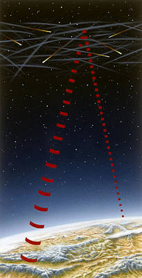 High Technology Devices Photograph - A Painting Depicts Radio Signals by Peter A. Sawyer