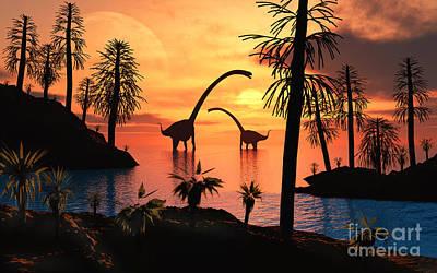 Beastie Boys - A Pair Of Omeisaurus Dinosaurs by Mark Stevenson