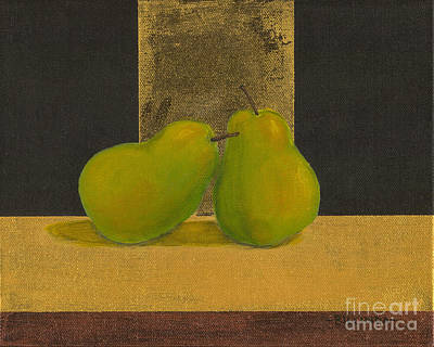 Painting - A Pair Of Pears by Billinda Brandli DeVillez
