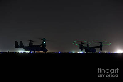 Pasta Al Dente - A Pair Of Special Forces Cv-22 Osprey by Terry Moore