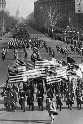 A Parade Celebrating The Third Art Print by Everett