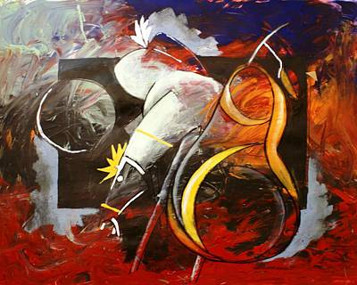 By Artist Singh Painting - A Pear And A Horse  by Artist Singh