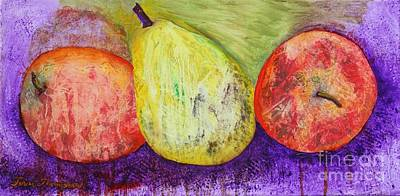 Painting - A Pear Between Us by Terri Thompson