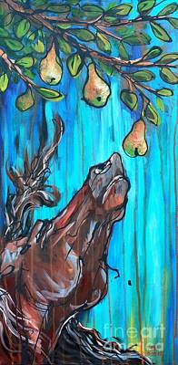 Pear Tree Painting - A Pearantly Deoable by Jonelle T McCoy