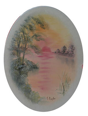Kugler Painting - A Peek At The Lagoon by Scott Kugler