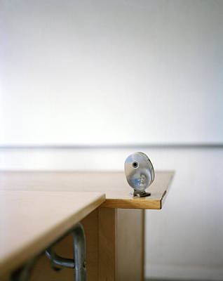 Whiteboard Photograph - A Pencil-sharpener In A Classroom, Sweden by Johner Images
