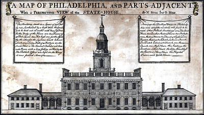 A Perspective View Of The State-house Art Print by Everett