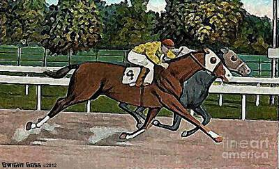 Painting - A Photo Finish At Saratoga In 1920 by Dwight Goss