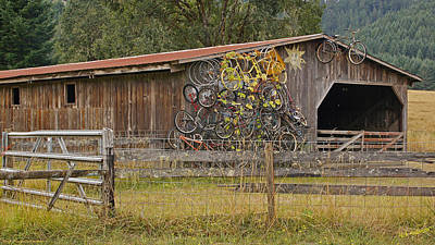 Barn Lots Photograph - A Pile Of Bikes by Mick Anderson