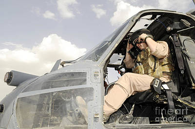 A Pilot Conducts Preflight Checks Art Print