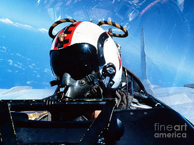 Obscured Face Photograph - A Pilot Sitting In The Back by Dave Baranek