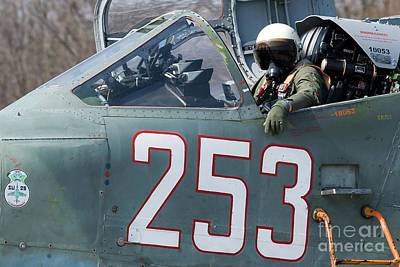 Sukhoi Photograph - A Pilot Sitting In The Cockpit by Anton Balakchiev