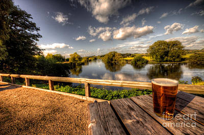 A Pint With A View  Art Print by Rob Hawkins