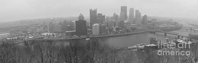 A Pittsburgh Winter Day Art Print by David Bearden