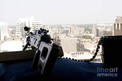A Pk 7.62mm Machine Gun Nest On Top Art Print by Terry Moore