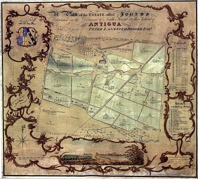A Plan Of An English Colonists Estate Art Print by Everett