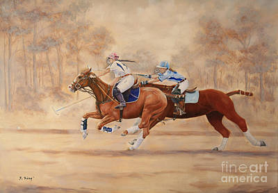 Painting - A Polo Match by Roena King