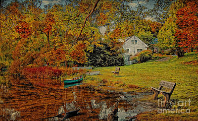 Waterview Photograph - A Pond View by Gina Cormier