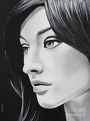 Ohio Painting - A Portrait In Black And White by Dan Lockaby
