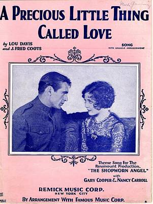 Old Sheet Music Photograph - A Precious Little Thing Called Love by Mel Thompson