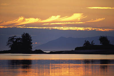 Natural Forces Photograph - A Pretty Sunset At Kah Shakes Cove by Bill Curtsinger