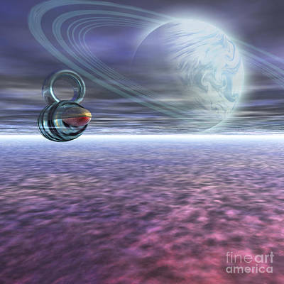 A Probe From Earth Is Sent To Jupiter Art Print by Corey Ford