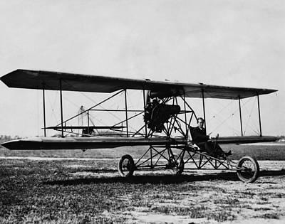 A Pusher Airplane, C. 1910 Art Print by Everett