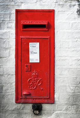 A Quaint Essential English Post Box Art Print