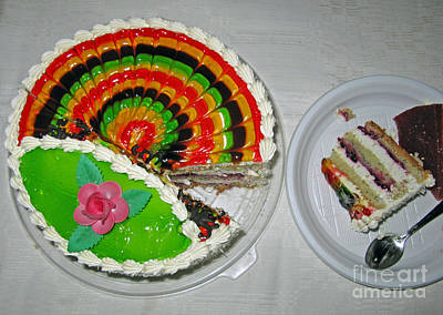 Photograph - A Rainbow Cake- Yummy by Ausra Huntington nee Paulauskaite
