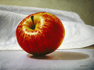 Painting - A Red Apple by Matthew Martelli