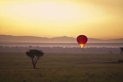 A Red Hot Air Balloon Takes Flight Print by David DuChemin
