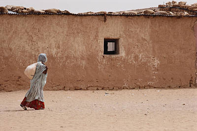 Transportation Of Goods Photograph - A Refugee From Western Sahara Leaves by Steve Raymer