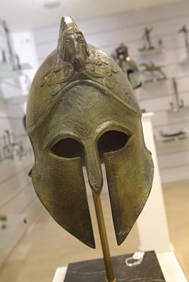 Plaka Photograph - A Replica Of An Ancient Greek Helmet by Richard Nowitz