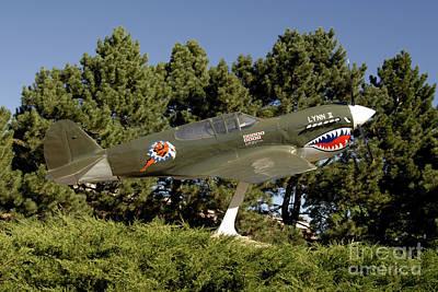 A Replica Of The Curtiss P-40e Warhawk Art Print