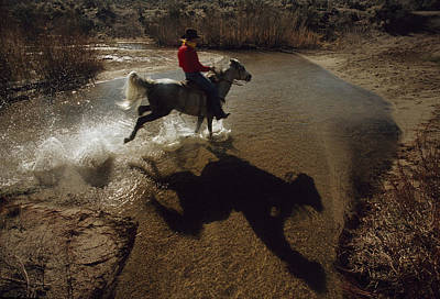 A Rider Retraces The Original Pony Print by Phil Schermeister