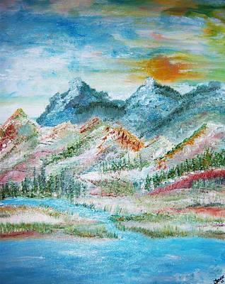 A River Runs Through  Art Print by Fawn Whelahan