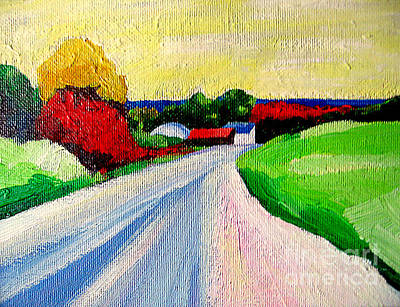 Painting - A Road Up North by Lisa Dionne
