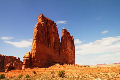A Rock At Arches Art Print by Jeff Swan