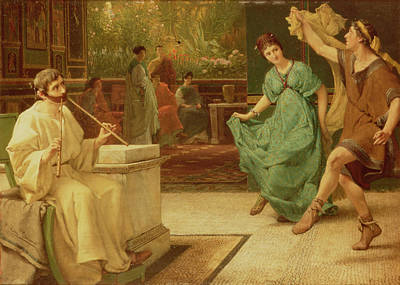 Roman Ancient Painting - A Roman Dance by Sir Lawrence Alma-Tadema