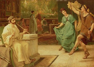 Panel Painting - A Roman Dance by Sir Lawrence Alma-Tadema