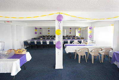Banquet Photograph - A Room Prepared For A Social Event by Will and Deni McIntyre