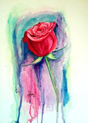 Painting - A Rose Is A Rose by Andrea Realpe