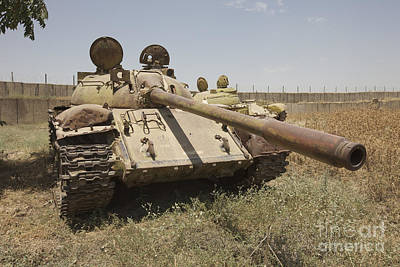 A Russian T-55 Main Battle Tank Print by Terry Moore